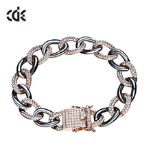 Professional ODM OEM jewelry factory custom Cz diamond new design Hip Hop bracelet for men