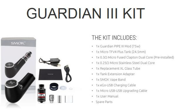 Best Selling Item Smok Guardian 3 Epipe, Smok Guardian 3 Epipe Use Micro TFV4 Plus, Wholesale Smok Guardian 3 Epipe Ready Stock!