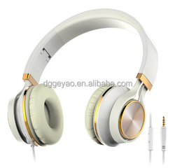 Wired folable headphone with mic handsfree talking invisible microphone for cellphone smart phone