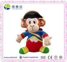 Pirate Costume Soft Plush Monkey Toy