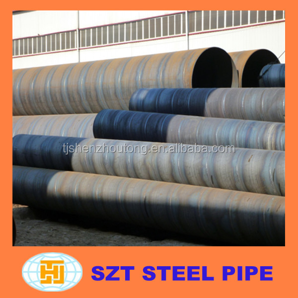 Structure use ASTM A53 sprial welded steel pipe manufacture