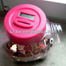 piggy bank with coin counter; bank digital coin counting money jar ; digital coin bank for sale