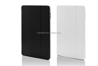 Real Pure 100% Carbon Fiber Tri- Folded Stand Snap on Case Cover for iPad Air 2