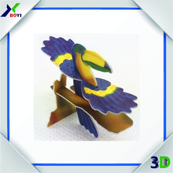 Easy assemble cartoon animal 3d puzzle kids games
