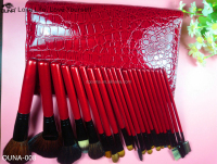 Amazing price and quality for OUNA red makeup cosmetic brushes