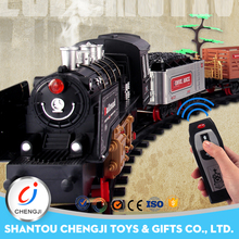 Promotional intelligence voice control rc smoke train toy sets for kids
