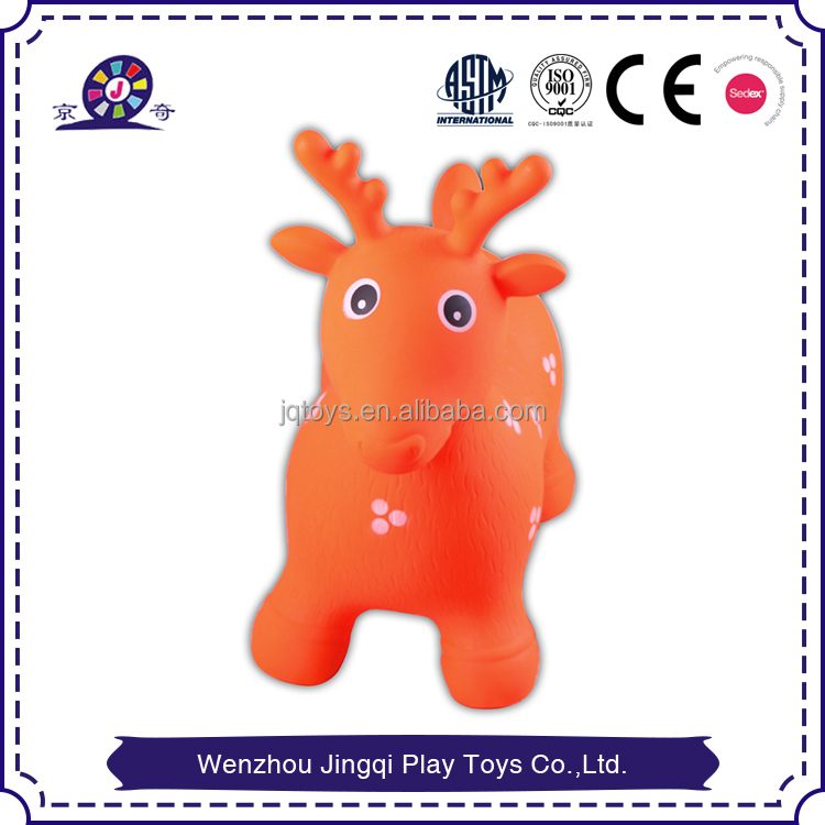 2017 led animated deer jumping Animal inflatable toy hopper deer