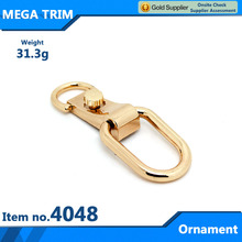 Wholesale gold decorative hardware bag parts accessory metal ornament for handbag