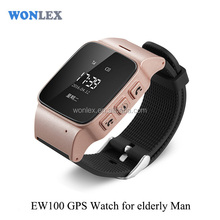 Wonlex EW100 gps watch tracker /locator wrist watch gps for elderly man