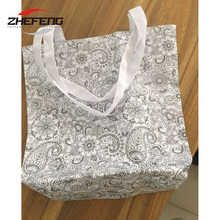 Cheap wholesale China manufacturer eco supermarket insulated fabric polyester folding non woven reusable shopping bag