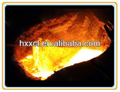 Additive to remove foundry molten iron steel slag accretion Slag remover