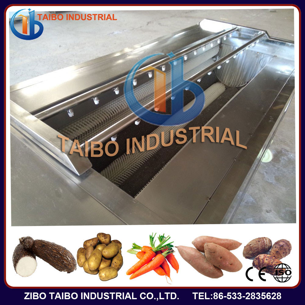 industrial root vegetable washer and peeler,carrot/potato/sweet potato/kiwi/cassava peeling and washing machine