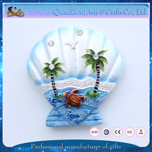 wholesale tourist souvenir scallop cute nice polyresin fridge magnet