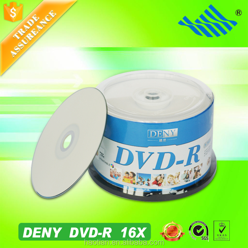 China export high quality 16x printable dvd with 100 packs