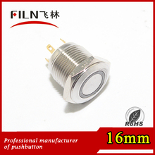 IP67 short type Pushbutton Switch Cover 16mm momentary illuminated push button switche