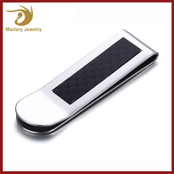 Wholesale Magnetic Parts Titanium Mens Wallet Money Clip Hardware Credit Card Holder,Spring Plastic Carbon Fiber Money Clip
