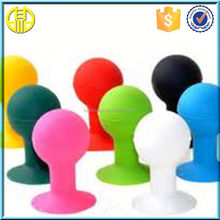 Hand held type Ball shape little man shaped silicone cell phone stand