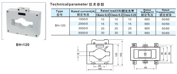 Top value 660V BH-120 1500/5A current transformer for sale