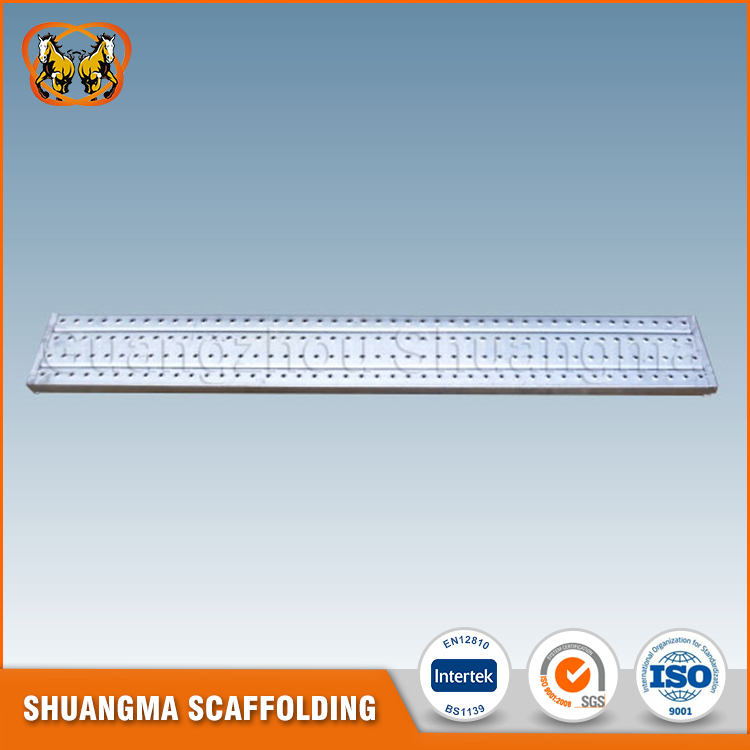 Working platform scaffolding hook perforated steel plank