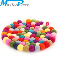 felt balls rug/wool balls rug / felt ball carpet