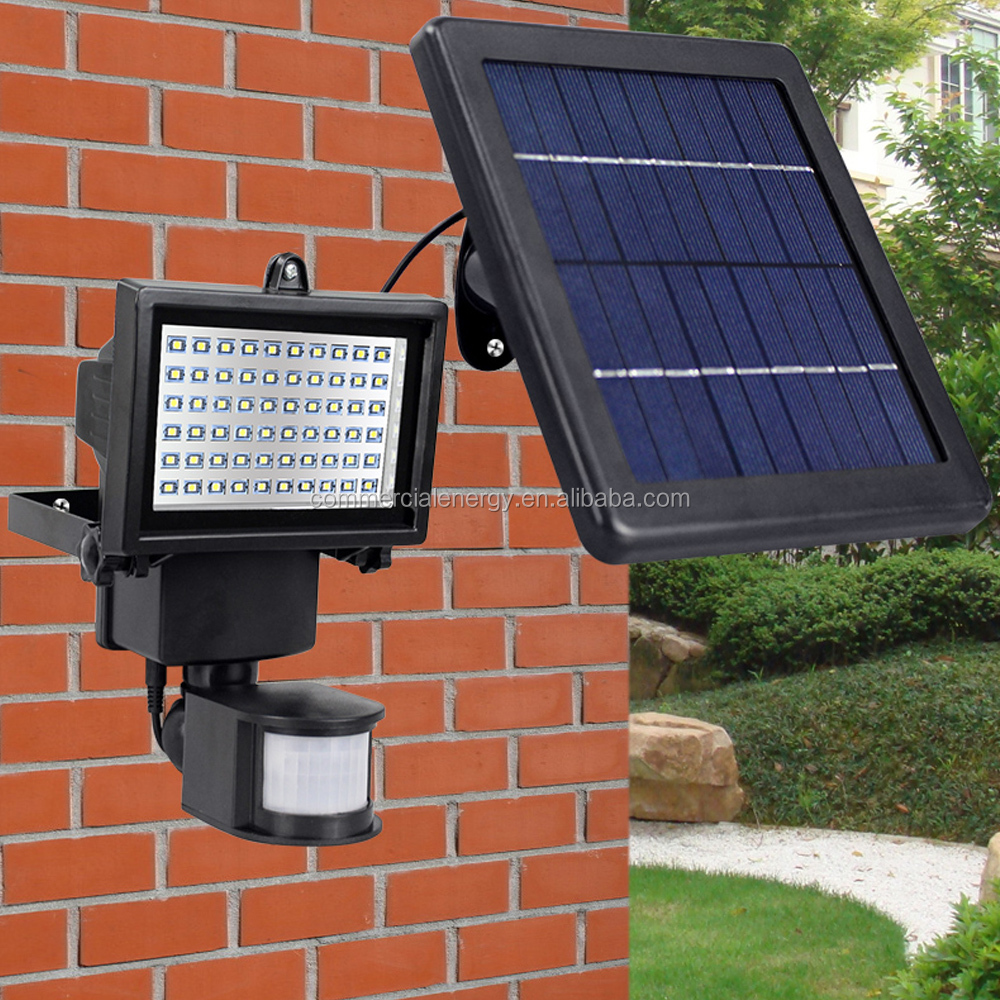 60pcs led high lumen auto-in-fashion led light solar PIR sensor wall mounted light outdoor lamp