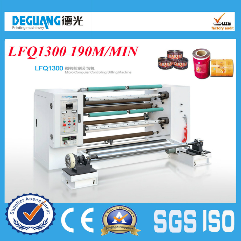 LFQ1300 2014 Hot Sale Plastic Film and Paper Slitting or Slitter Machine