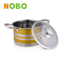 Stainless steel cookware brand NOBO belly stock pot belly cookware