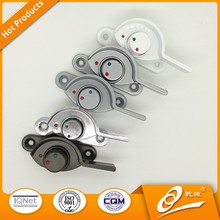 Smooth operation crescent lock for PVC window