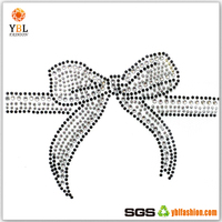 Metal on Dome Stud Hotfix Glass Stone Strass Ribbon Design for Dress