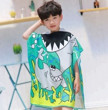 Kids Children Hooded Poncho Bath Swim Beach Towel