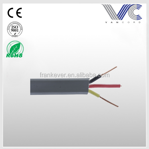 3 core flat power cable electrical cable copper wires