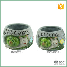 New Style Creative Snail Ceramic Flower Pots For Succulents