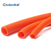 Orange Grey PVC Flexible Pipe Corrugated Pipe Hose 25mm 32mm