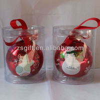 lovely snowman design glass ball christmas decorations