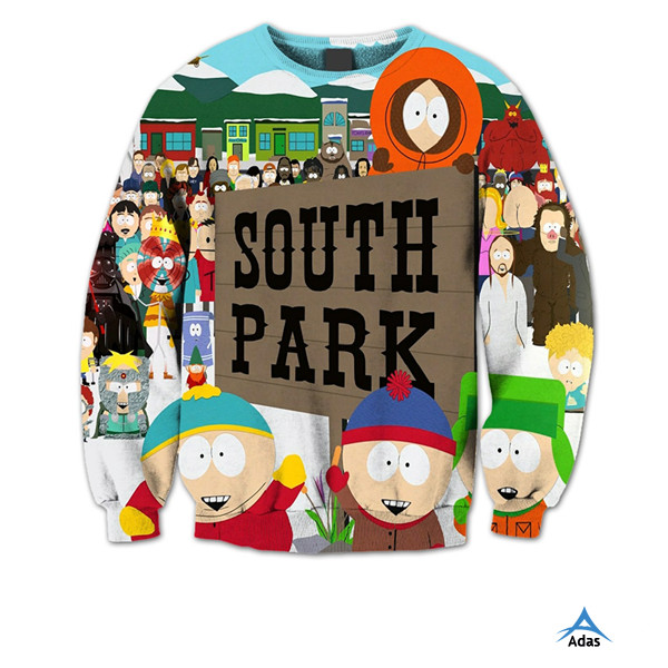 Sublimated 100% polyester cartoon printing kids sweatshirt