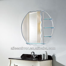 Fashional designed bathroom cabinet with towel rack and mirror brass porthole mirror