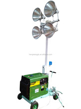 mobile light tower with 4 x 1000w lamps