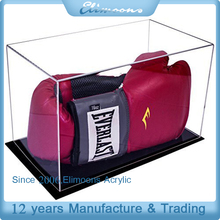 Custom Clear Dustproof Box/High Quality Collection Display Box /Acrylic Boxing Glove Display Case