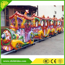 New promotion high quality children electric train, hot sell electric amusement kids train with trail for sale