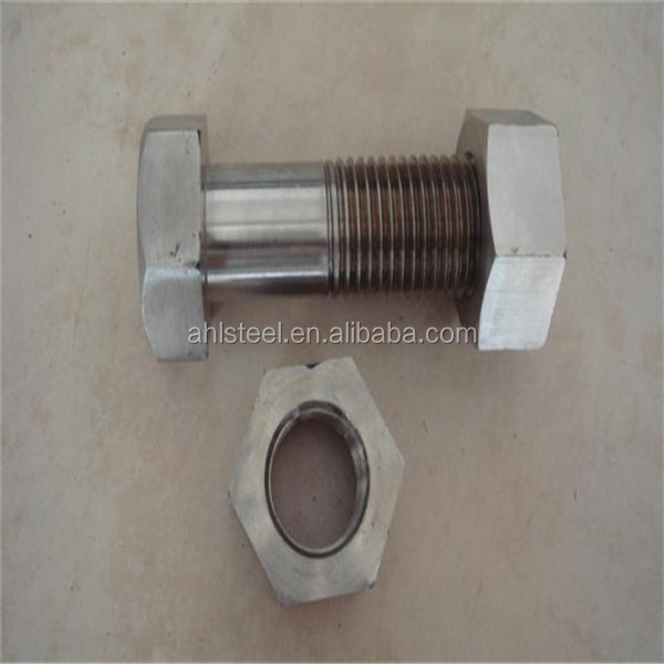 316 stainless steel bolts and nuts hexangular M27*140