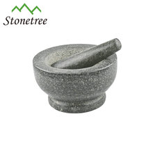 nature stone round herb and spice grinder