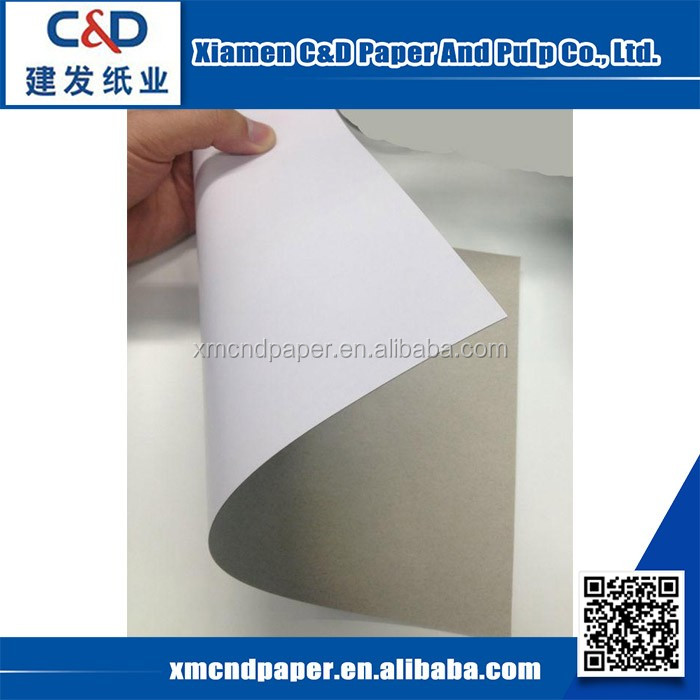 Alibaba China Wholesale Good Smoothness Stocklot Coated Duplex Board Paper With Grey Back