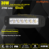 2017 new products auto part Slim single row 4x4 Offroad 6 inch 18w 30w LED Light Bar 30w led driving light Flush Mount Fog Light