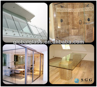 Top Quality Tempered Glass For Balcony,Bathroom,Partitions,Table Top