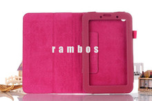 2015 New Promotion Sale 9 Colors Tablet Leather Stand Folio Flip Cases Covers for Lenovo A3500
