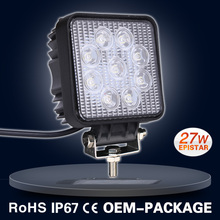 9-60V offroad 12V 27W square led work light