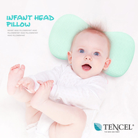 Cotton breathable and soft infant baby pillow prevent flat head