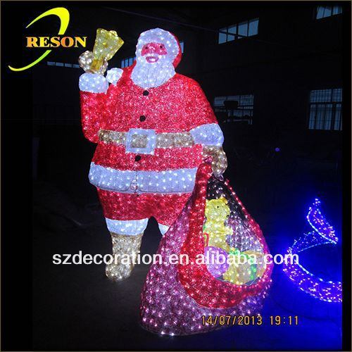 RS-santa03 3D black santa claus christmas decorations
