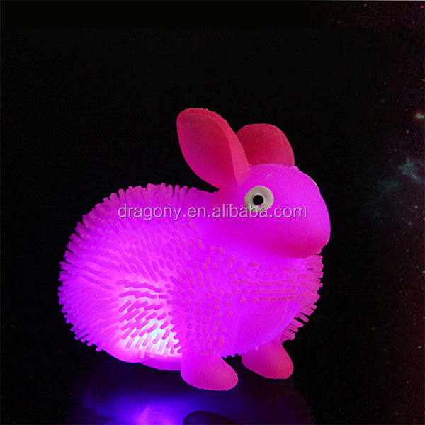 puffer morph ball changeable color flashing bouncing rabbit baby toys for <strong>kids</strong>