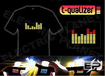 [Super Deal]Wholesale 2009 fashion hot sale T-shirt A26,el t-shirt,led t-shirt